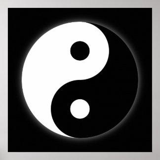 Black & White Yin Yang Poster