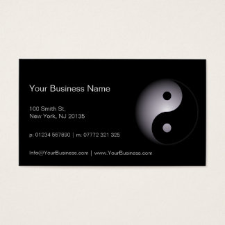 Black White Yin Yang Professional - Business Card