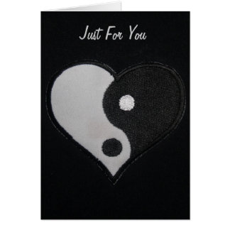 Black & White Ying Yang Heart Card