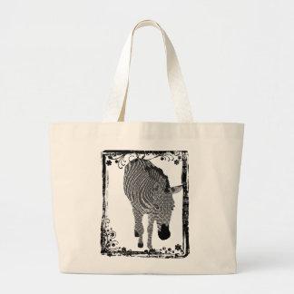 Black White Zeb Art Bag