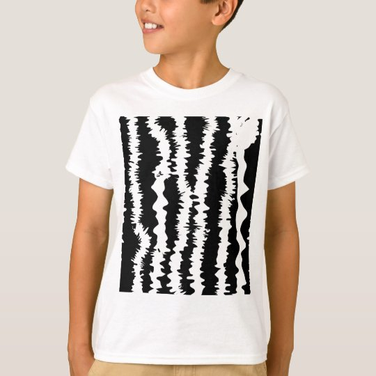Black & White Zebra Design T-Shirt