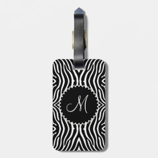 Black & White Zebra Pattern Customized Luggage Tag