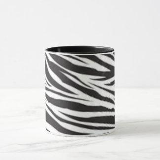 Black White Zebra Pattern Print Design Mug