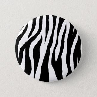 Black & White Zebra Print 2 Inch Round Button