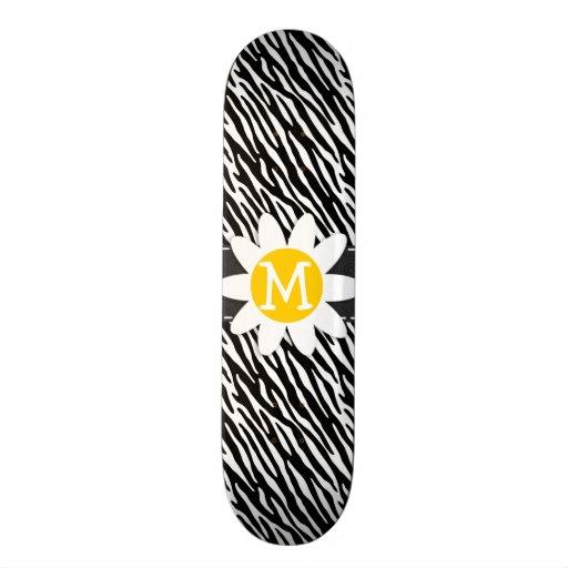 Black & White Zebra; Spring Daisy Skate Board Decks