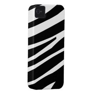 Black white zebra stripe stylish blackberry bold iPhone 4 Case-Mate cases
