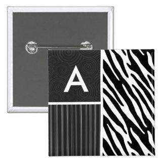 Black & White Zebra Stripes Pin