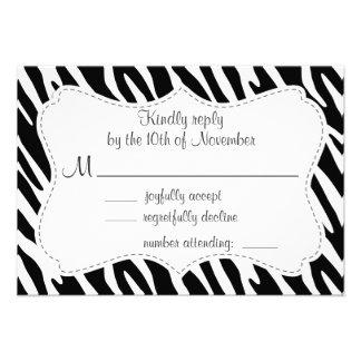 Black & White Zebra Stripes Invitation