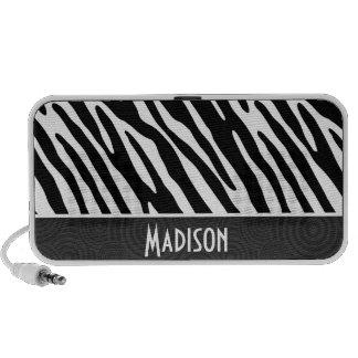 Black & White Zebra Stripes PC Speakers