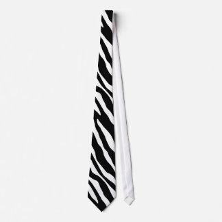 Black & White Zebra Stripes Tie