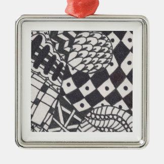 Black White Zen Ornament 004