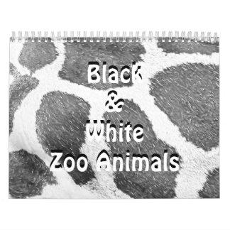 Black & White Zoo Animals Calendars