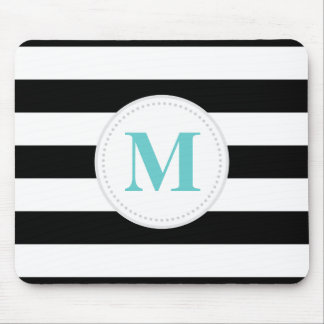 Black Wide Stripe Mouse Pad