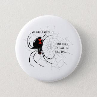 Black Widow 2 Inch Round Button