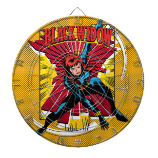 Black Widow Action Comic Graphic Dartboard