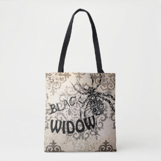 Black Widow All-Over-Print Tote Bag