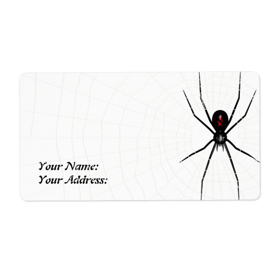 Black Widow design Shipping Label