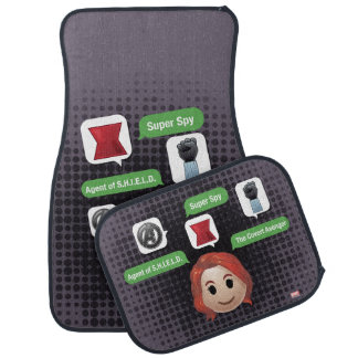 Black Widow Emoji Car Mat