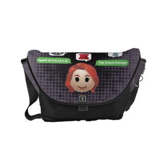 Black Widow Emoji Courier Bag