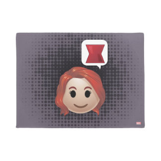 Black Widow Emoji Doormat