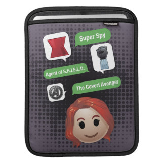 Black Widow Emoji iPad Sleeve