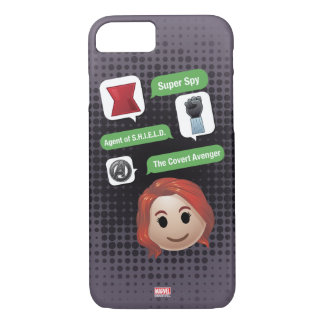 Black Widow Emoji iPhone 8/7 Case