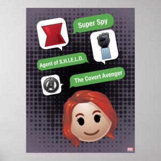 Black Widow Emoji Poster