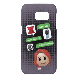 Black Widow Emoji Samsung Galaxy S7 Case