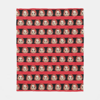 Black Widow Emoji Stripe Pattern Fleece Blanket