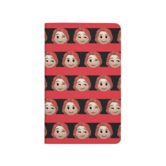 Black Widow Emoji Stripe Pattern Journal