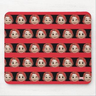 Black Widow Emoji Stripe Pattern Mouse Pad