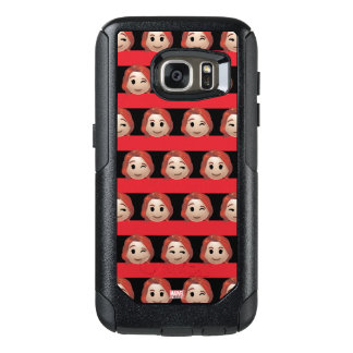 Black Widow Emoji Stripe Pattern OtterBox Samsung Galaxy S7 Case
