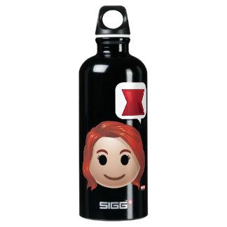 Black Widow Emoji Water Bottle
