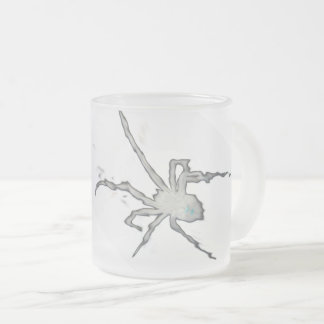 BLACK WIDOW Inverted - Beware! Frosted Glass Coffee Mug