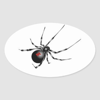 Black Widow Oval Sticker