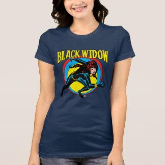 Black Widow Retro Character Art Graphic T-Shirt