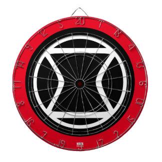 Black Widow Retro Icon Dartboard With Darts