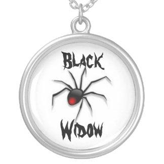 BLACK WIDOW SCARY ARACHNID PRINT NECKLACE
