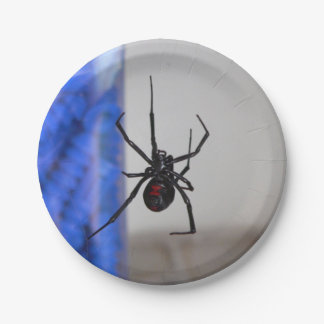 Black Widow Spider 7 Inch Paper Plate