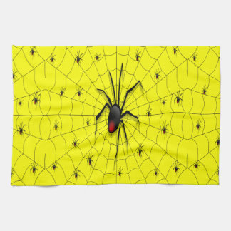 Black Widow Spider and Babies - Hand Towels