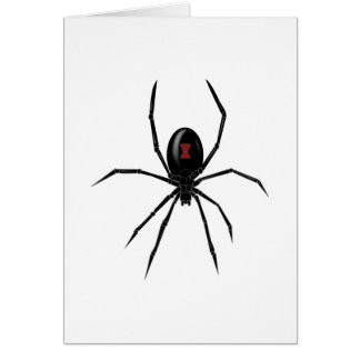 Black WIdow Spider Card