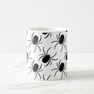 black widow spider halloween pattern coffee mug