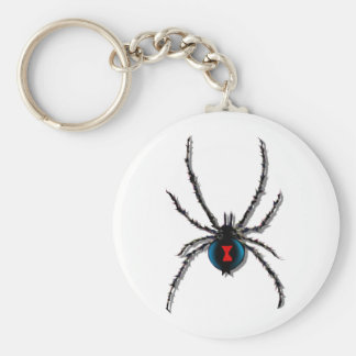 Black Widow Spider Keychain