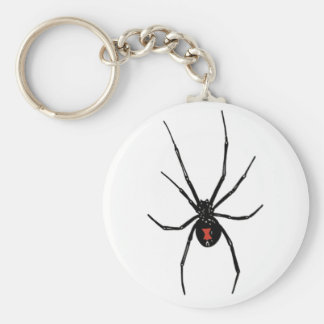 BLACK WIDOW SPIDER KEYCHAIN KEYRING