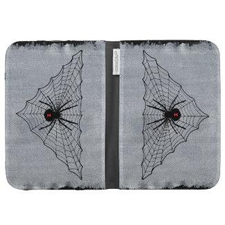 Black Widow Spider Web Halloween Gothic Kindle Folio Cases