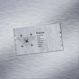 Black Widow Spider Web Halloween Gothic Magnetic Business Card