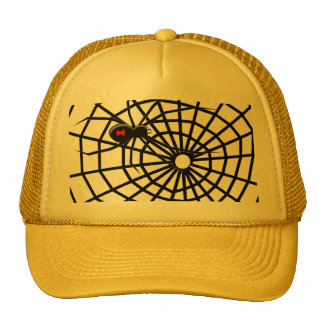 Black Widow Spiders Web! Mesh Hats