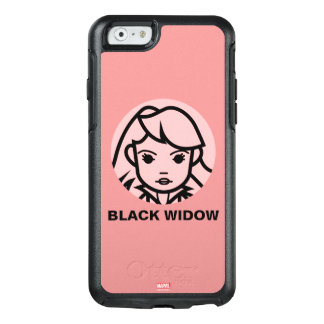 Black Widow Stylized Line Art Icon OtterBox iPhone 6/6s Case