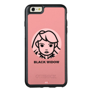 Black Widow Stylized Line Art Icon OtterBox iPhone 6/6s Plus Case