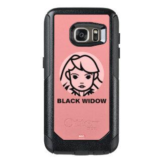 Black Widow Stylized Line Art Icon OtterBox Samsung Galaxy S7 Case